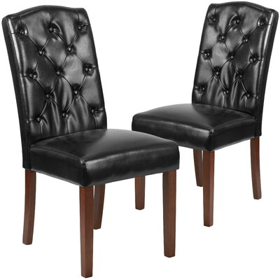 Orland Tufted Solid Wood Parsons Dining Chair