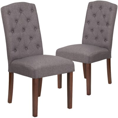 Orland Mid-Century Tufted Parsons Dining Chair Upholstery Color: Gray