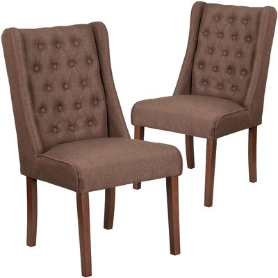 Orland Tufted Parsons Dining Chair Upholstery Color: Brown
