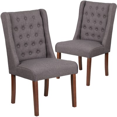 Orland Tufted Parsons Dining Chair Upholstery Color: Gray