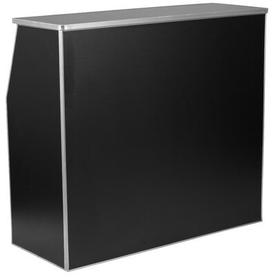 Bukowski Foldable Home Bar Color: Black