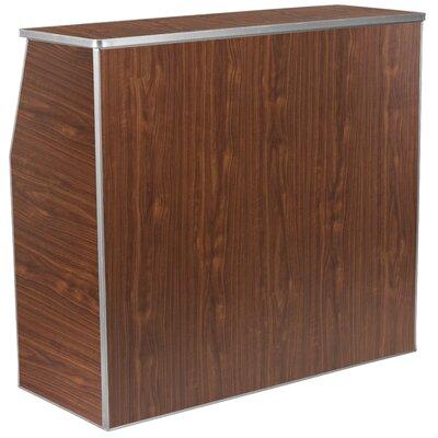Bukowski Foldable Home Bar Color: Brown