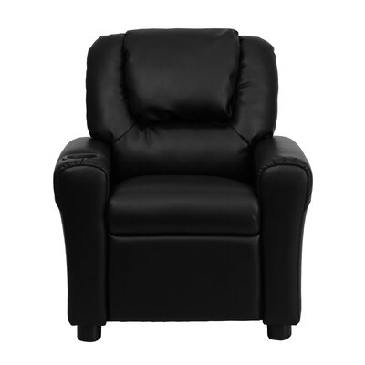 Personalized Kids Recliner Upholstery Type - Color: Leather - Black image
