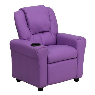 Contemporary Kids Recliner with Cup Holder Color: Lavender DGULTKIDLAV
