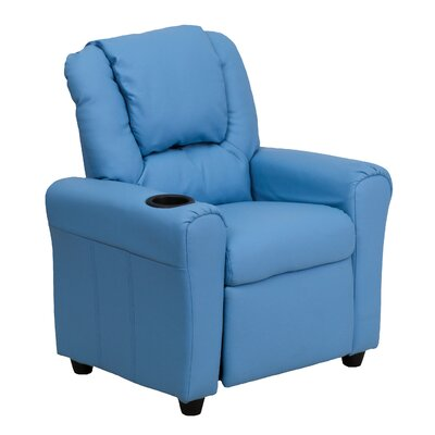 Contemporary Kids Recliner with Cup Holder Color: Light Blue DGULTLTBLUE