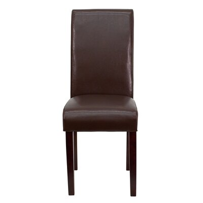 Loan for furniture Leather Upholstered Parsons Chair U...