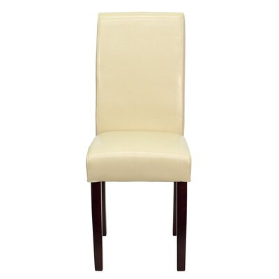 No credit financing Leather Upholstered Parsons Chair U...
