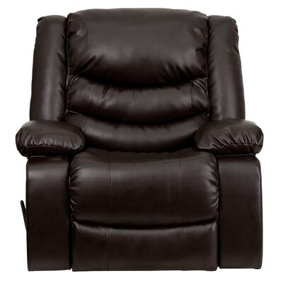 Akirah Leather Manual Rocker Recliner