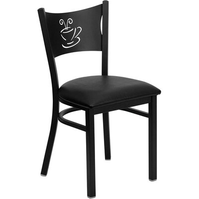 Low Price FlashFurniture Hercules Series Side Chair Seat Finish: Black Vinyl