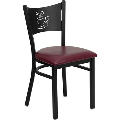 Low Price FlashFurniture Hercules Series Side Chair Seat Finish: Burgundy Vinyl
