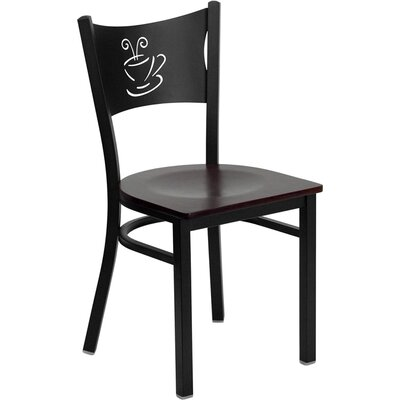 Low Price FlashFurniture Hercules Series Side Chair Seat Finish: Mahogany Wood