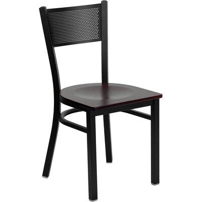 Low Price FlashFurniture Hercules Series Grid Back Side Chair Seat Finish: Mahogany Wood