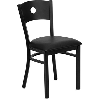 Low Price FlashFurniture Hercules Series Circle Back Side Chair Seat Finish: Black Vinyl