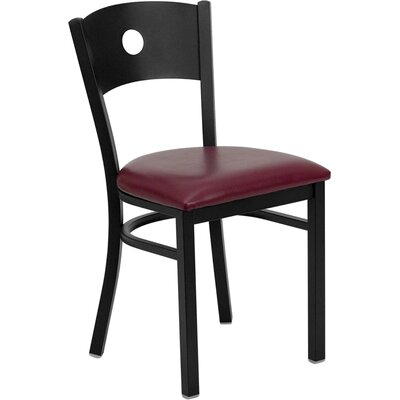 Picture of FlashFurniture Hercules Series Circle Back Side Chair Seat Finish: Burgundy Vinyl in Large Size
