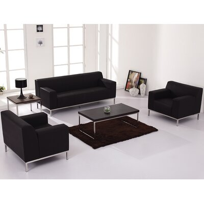 Flash Furniture ZB-DEFINITY-8009-CHAIR-BK-GG Hercules Definity Leather Living Room Collection