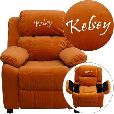 Personalized Kids Recliner Upholstery Type - Color: Microfiber - Orange image