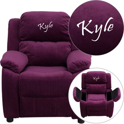Personalized Kids Recliner Upholstery Type - Color: Microfiber - Purple image