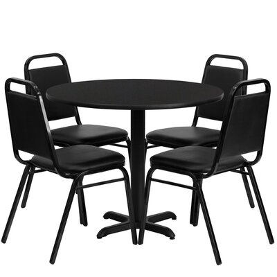 Ahlam 5 Piece Dining Set Finish: Black