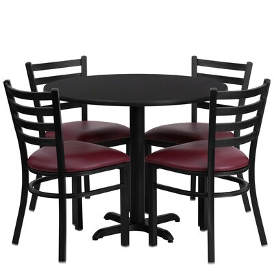 Jinnie 5 Piece Dining Set Finish: Black