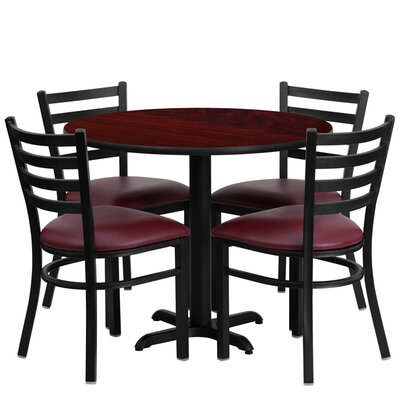 Jinnie 5 Piece Dining Set Finish: Mahogany