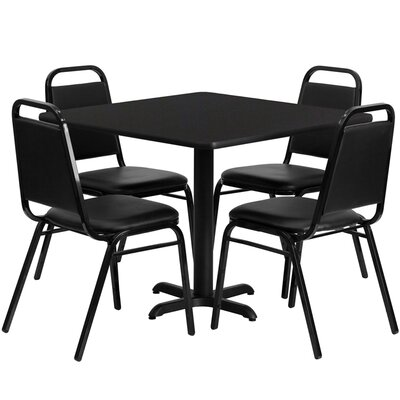 Twila 5 Piece Dining Set Finish: Black