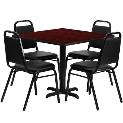 Twila 5 Piece Dining Set Finish: Mahogany
