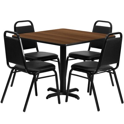 Twila 5 Piece Dining Set Finish: Walnut