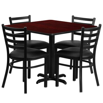 Jannet 5 Piece Dining Set Finish: Mahogany