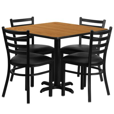 Jannet 5 Piece Dining Set Finish: Natural