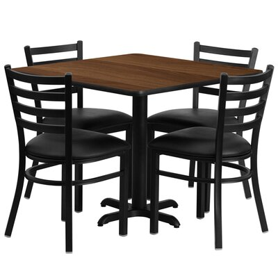 Jannet 5 Piece Dining Set Finish: Walnut
