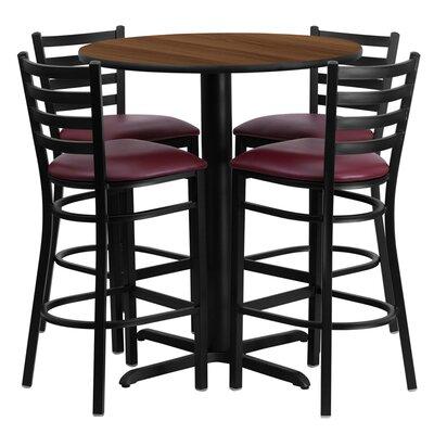 Wen 5 Piece Pub Table Set Color: Walnut