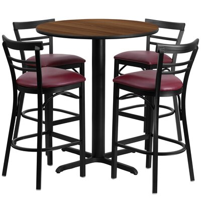 Kangwei 5 Piece Pub Table Set Finish: Walnut