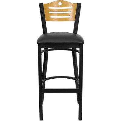 Thornfeldt 33 Bar Stool Upholstery: Black Vinyl