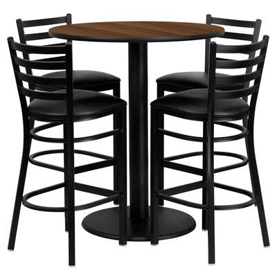 Hemant 5 Piece Pub Table Set
