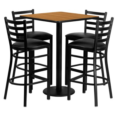 Akriti 5 Piece Pub Table Set