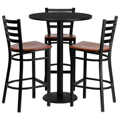 Abrar 4 Piece Pub Table Set
