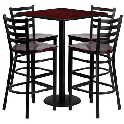 Siddharth 5 Piece Pub Table Set