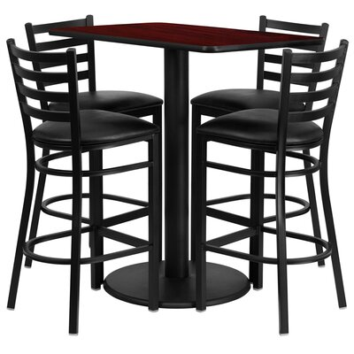 FlashFurniture 5 Piece Dining Set - Finish: Mahogany at Sears.com