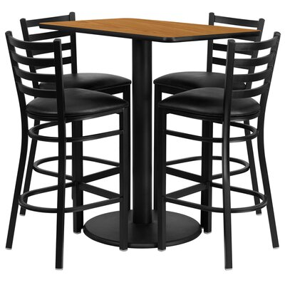 FlashFurniture 5 Piece Dining Set - Finish: Natural at Sears.com