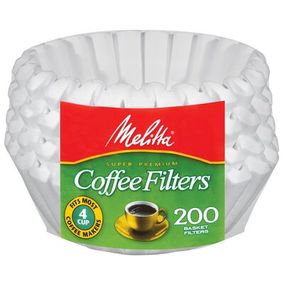Melitta 4 - 6 Cup Paper Basket Coffee Filter 62914