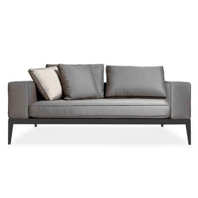Balmoral Deep Seating Sofa with Cushions Frame: Asteroid, Material: Sunbrella Graphite /Piping Black