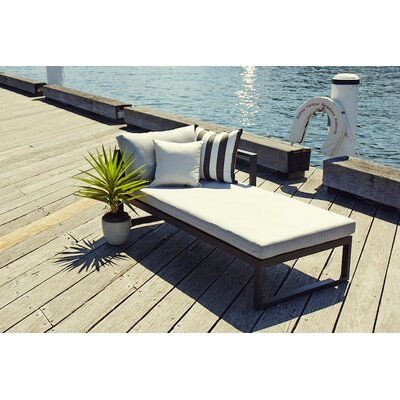 Piano Right Arm Deep Seating Chaise Seat Color: White, Material: Euro Sunbrella, Frame: Taupe