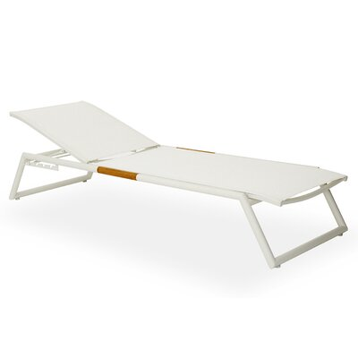 Breeze Stacking Sun Chaise Lounge Finish: White, Fabric: White