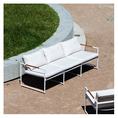 Breeze Sofa Fabric: White, Finish: Asteroid