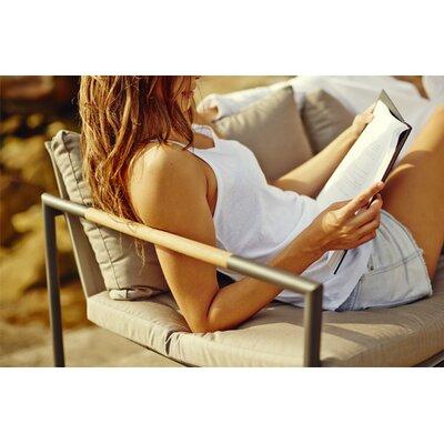 Breeze Outdoor Sunbrella Bench Cushion Fabric: Sunbrella Taupe