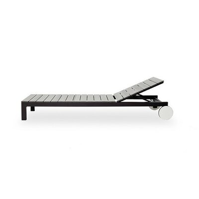 Piano Sun Chaise Lounge Top Finish: White, Frame Finish: Taupe