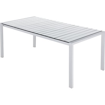 Piano Dining Table Table Size: 80 x 40, Base Finish: White, Top Finish: White