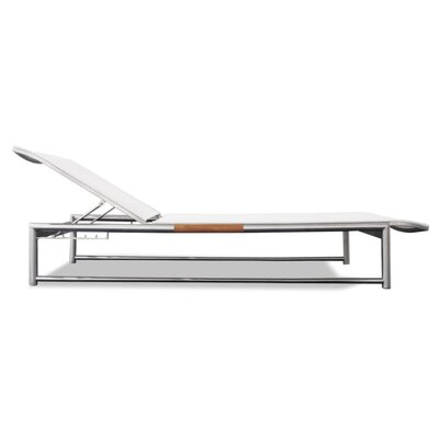 Breeze Sun Chaise Lounge Fabric: White, Finish: Silver