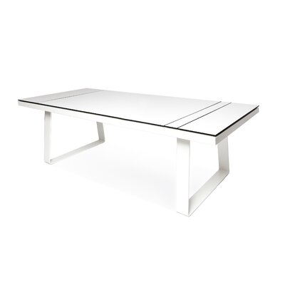 Clovelly Dining Table Top Finish: Charcoal, Base Finish: White, Table Size: 103 L x 40 W