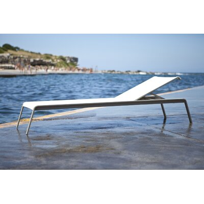 Clovelly Armless Chaise Lounge Fabric: Marine White Vinyl